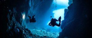 double caves dive site